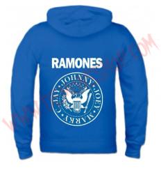 Sudadera Cremallera Ramones (Azul)