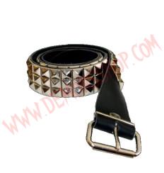 Cinturon de Cuero piramide 3 filas