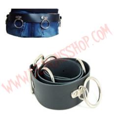 Cinturon de Cuero Sid Vicious con Anillos