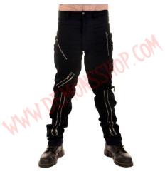 Pantalon Punk Negro de Cremalleras