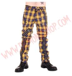 Pantalon Punk Amarillo de Cremalleras