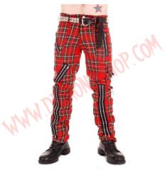 Pantalon Punk Rojo de Cremalleras