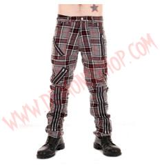 Pantalon Punk Gris de Cremalleras