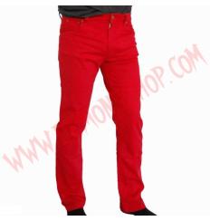 Pantalon Elastico Liso Rojo