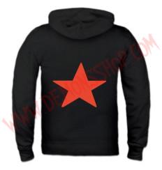 Sudadera Cremallera Estrella Roja (Negra)