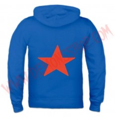 Sudadera Cremallera Estrella Roja (Azul)
