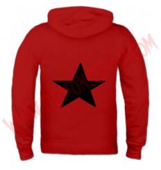 Sudadera Cremallera Estrella Negra (Roja)