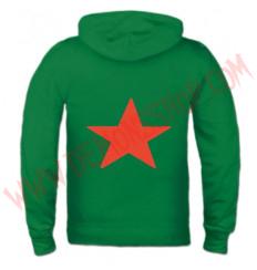 Sudadera Cremallera Estrella Roja (Verde)