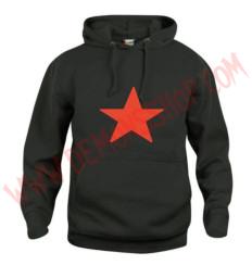 Sudadera Estrella Roja (Negra)