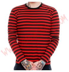 Camiseta ML Rayas Rojas y Negras