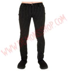 Pantalon Elastico Pitillo Pinstriped