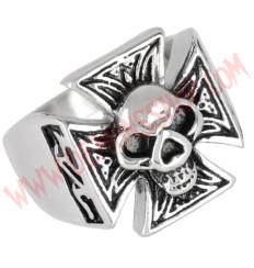 Anillo Iron Cross Skull