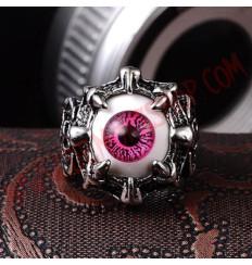 Anillo Eye Dragon Claw Rosa