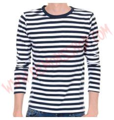 Camiseta ML Rayas Azul marino y Blanco