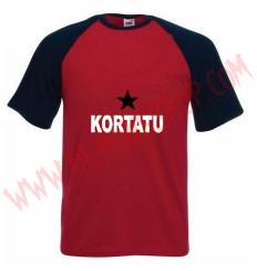 Camiseta MC Kortatu (Raglan Roja)