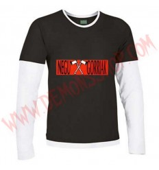 Camiseta ML Negu Gorriak (Negra manga Blanca)