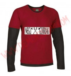 Camiseta ML Negu Gorriak (Roja manga Negra)