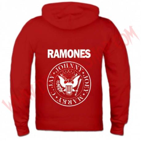 Sudadera Cremallera Ramones (Roja)