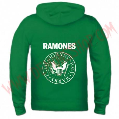 Sudadera Cremallera Ramones (Verde)