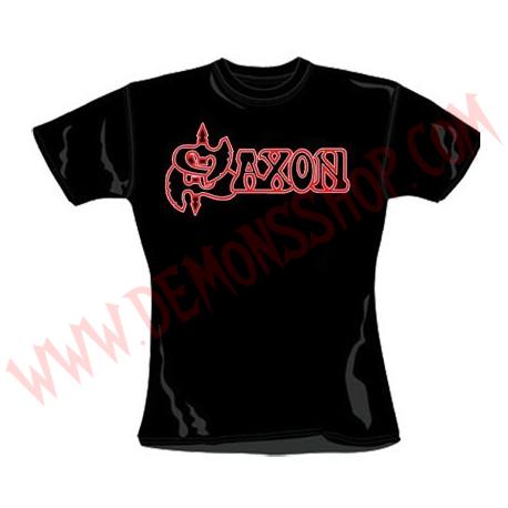 Camiseta Chica MC Saxon