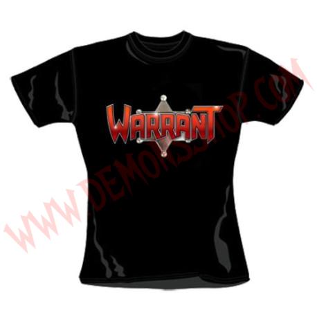 Camiseta Chica MC Warrant