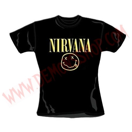 Camiseta Chica MC Nirvana