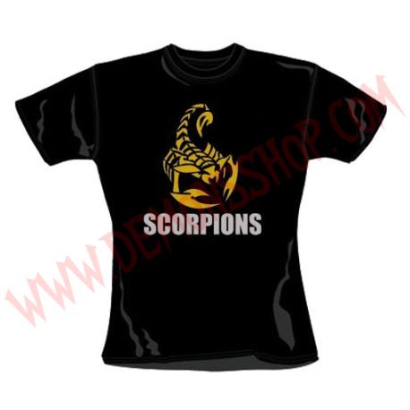 Camiseta Chica MC Scorpions