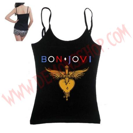 Camiseta Chica Tirantes Bon Jovi