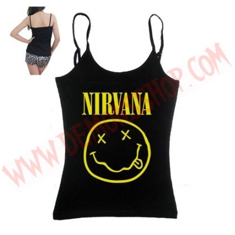 Camiseta Chica Tirantes Nirvana