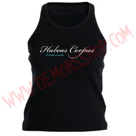 Camiseta Chica Tirantes Habeas Corpus