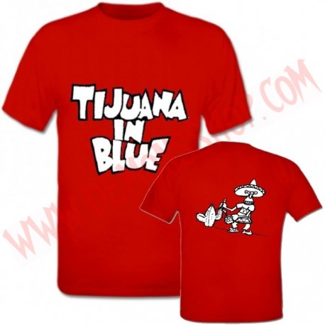 Camiseta MC Tijuana In Blue (Roja)