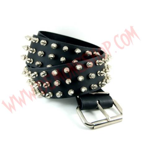 Cinturon de Cuero pinchos 3 filas