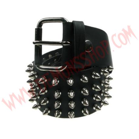 Cinturon de Cuero pinchos 4 filas