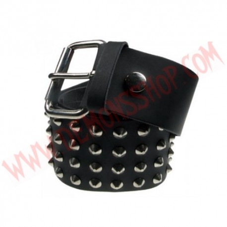 Cinturon de Cuero conos 4 filas
