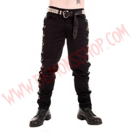 Pantalon Negro Anillas Laterales