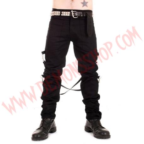 Pantalon Punk Bondage Negro UK