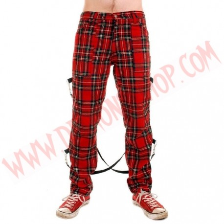 Pantalon Punk Bondage Tartan UK