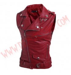 Chaleco Cruzado Biker Rojo