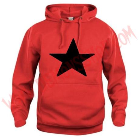 Sudadera Estrella Negra (Roja)