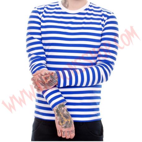 Camiseta ML Rayas Azules y Blancas