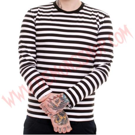 Camiseta ML Rayas Negras y Blancas