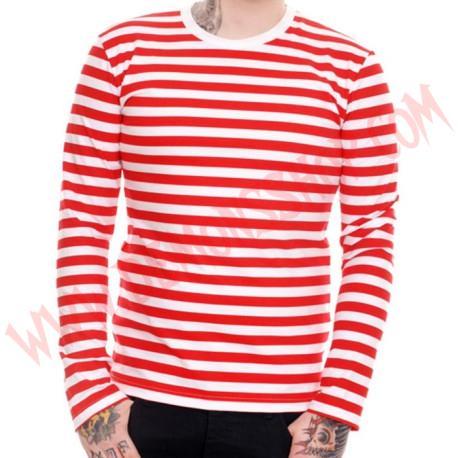 Camiseta ML Rayas Rojas y Blancas