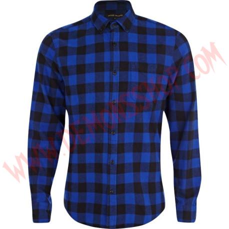 Camisa Cuadros Azul y Negra