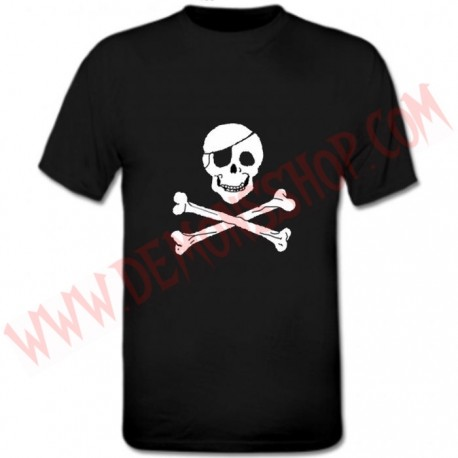 Camiseta MC Calavera Parche