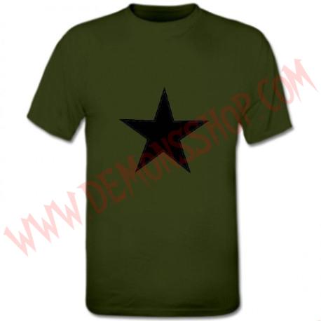 Camiseta MC Estrella Negra (Kaki)