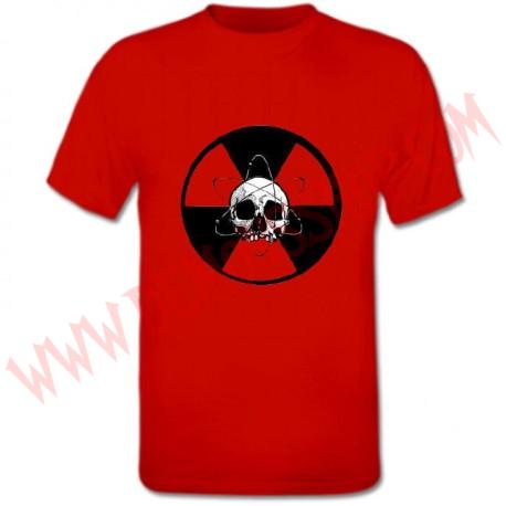 Camiseta MC Calavera Nuclear (Roja)