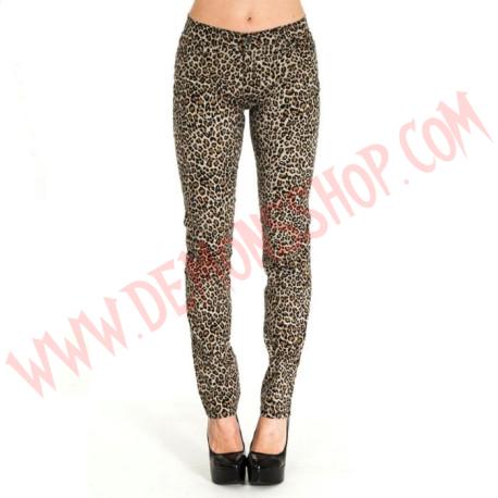 Pantalon Elastico Pitillo Leopardo