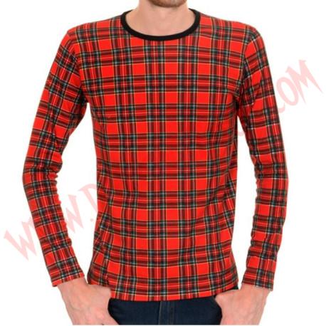 Camiseta ML Tartan roja