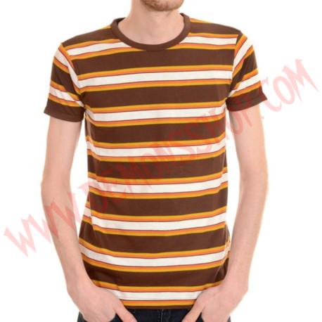 Camiseta MC Rayas Retro Marron