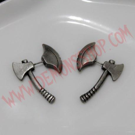 Pendientes Silver Axe